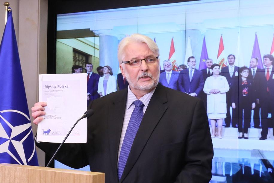 Witold Waszczykowski szef polskiej dyplomacji /Paweł Supernak /PAP