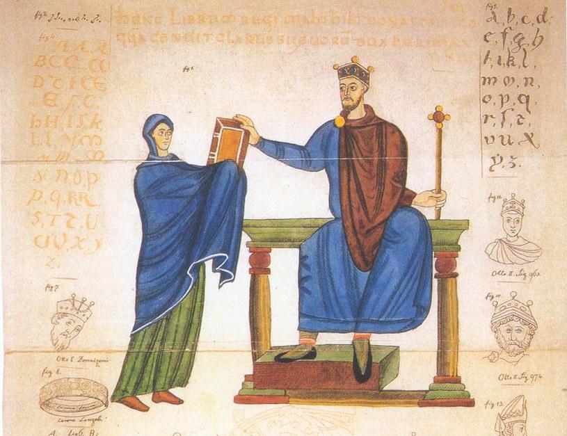 Wizerunek Mieszka II z Kodeksu Matyldy (źródło: domena publiczna) /Ciekawostki Historyczne