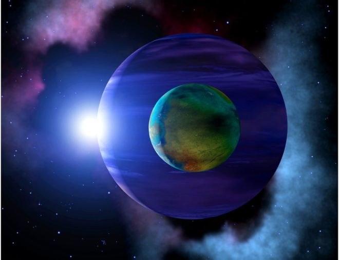 Wizja artystyczna - czy tak może wyglądać egzoksiężyc? /materiały prasowe