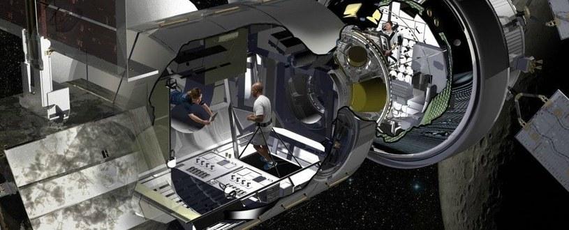 Wizja artystyczna kosmicznego habitatu Lockheed Martin /materiały prasowe