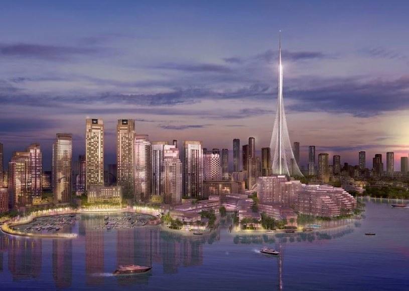 Wizja Dubai Creek Tower autorstwa Santiago Calatravy /Santiago Calatrava /Internet
