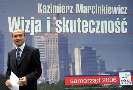 """""""Wizja i skuteczność"""" to hasło z plakatów Marcinkiewicza/fot. M. Smulczyński /Agencja SE/East News"""