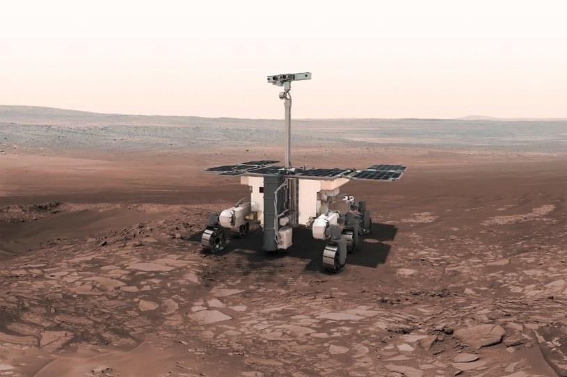 Wizja łazika ExoMars na powierzchni Czerwonej Planety /materiały prasowe