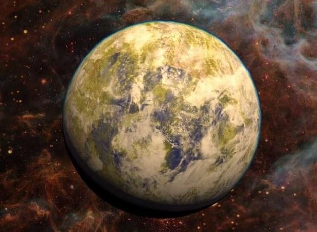 Wizualizacja. Fot. PHL @ UPR Arecibo, NASA Hubble, Stellarium /NASA