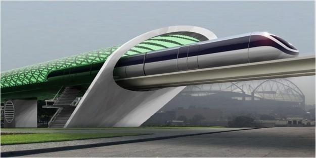 Wizualizacja kolei Hyperloop /materiały prasowe