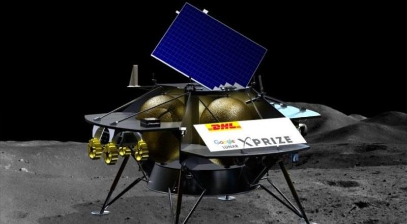Wizualizacja lądownika Peregrine na Księżycu /materiały prasowe