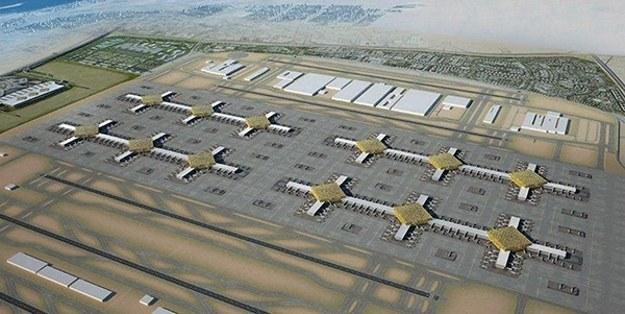 Wizualizacja lotniska.  Fot. Dubai Airports Concept /materiały prasowe