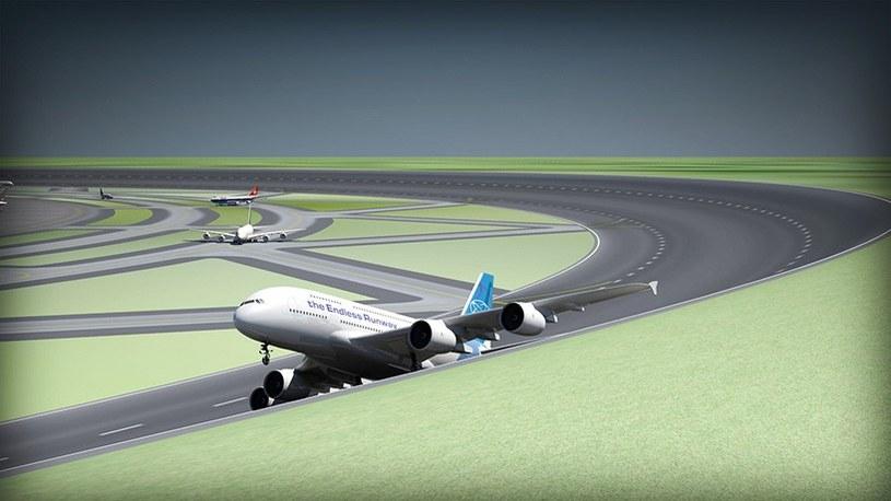 Wizualizacja okrągłego pasu startowego wg Henka Hesselinka /materiały prasowe