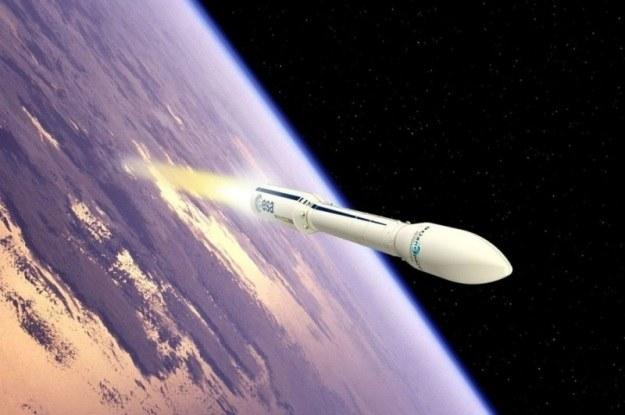 Wizualizacja startu rakiety Vega /materiały prasowe