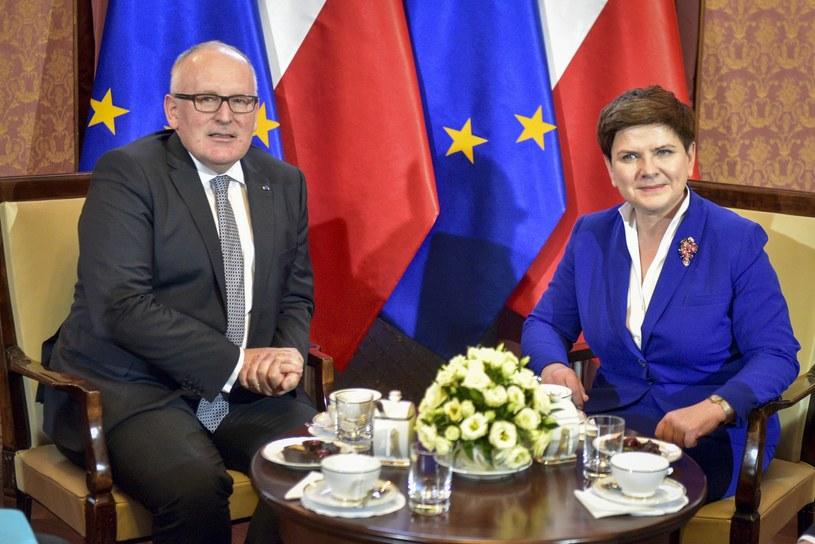 Wizyta Fransa Timmermansa w Warszawie /Jacek Domiński /Reporter