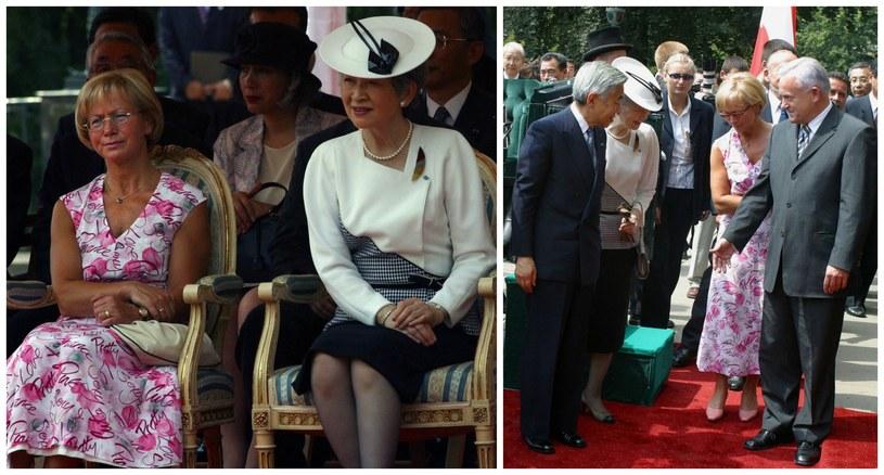 Wizyta japońskiej pary cesarskiej w Polsce w 2002 r. /Maciej Macierzyński /Reporter