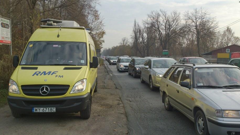 Wjazd do Warszawy od strony miejscowości Zakręt /Kamil Młodawski, RMF FM /RMF FM