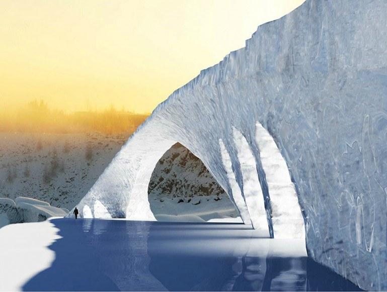 Wkrótce powstanie 50-metrowy most z lodu /materiały prasowe