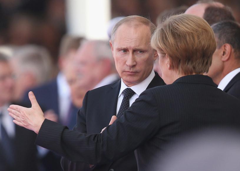 Władimir Putin i Angela Merkel /Getty Images