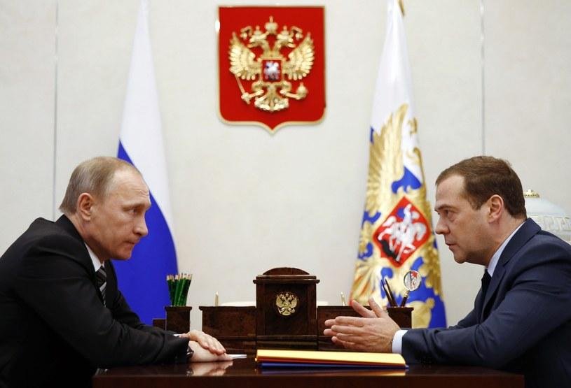 Władimir Putin i Dmitrij Miedwiediew /DMITRY ASTAKHOV / Sputnik / AFP /AFP