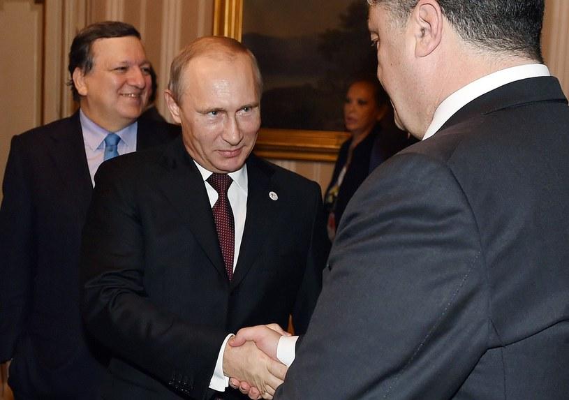 Władimir Putin i Petro Poroszenko. Spotkanie w Mediolanie /AFP