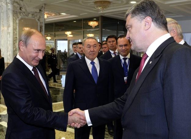 Władimir Putin i Petro Poroszenko /SERGEI BONDARENKO / POOL /PAP/EPA