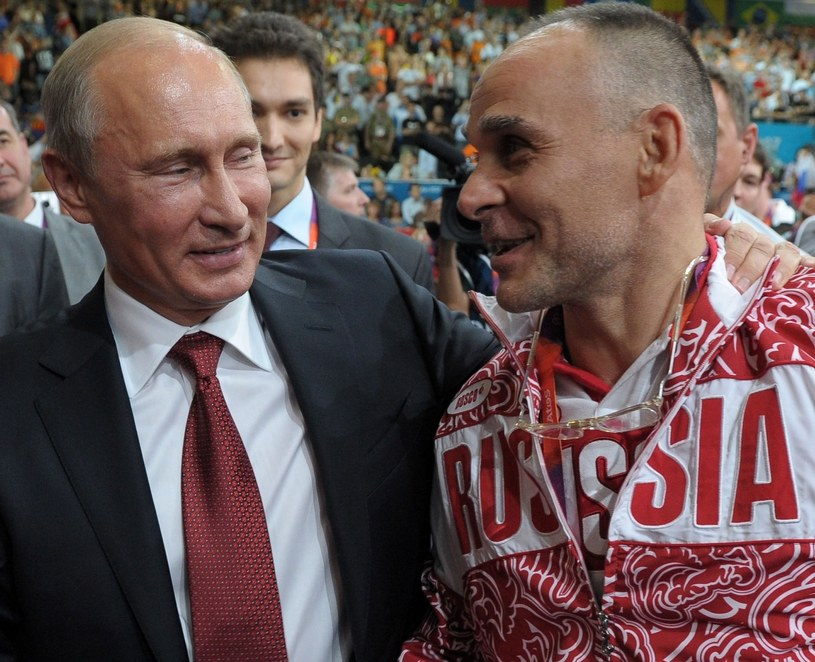 Władimir Putin i trener Ezio Gamba /AFP