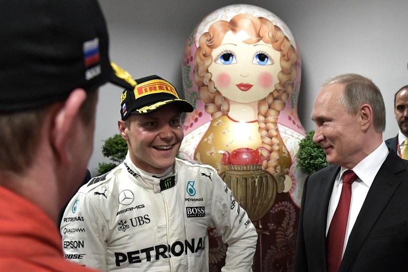 Władimir Putin i Valtteri Bottas /AFP