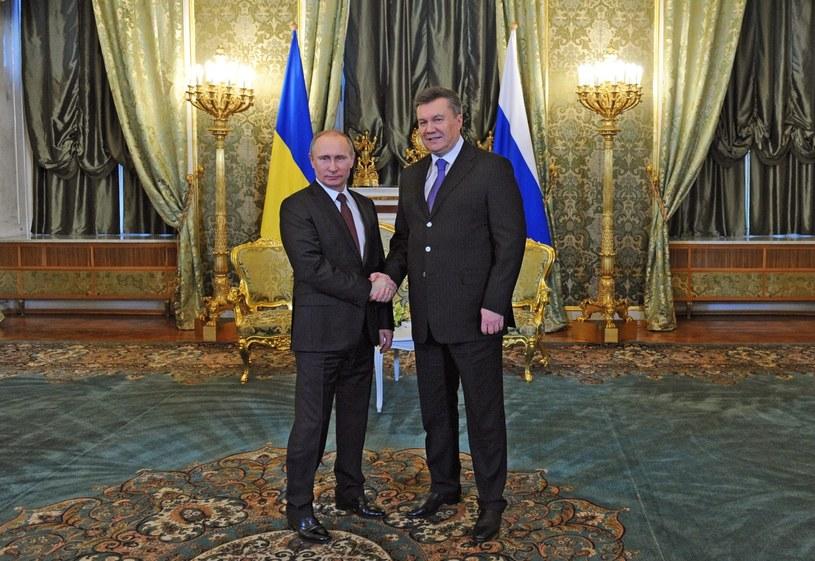 Władimir Putin i Wiktor Janukowycz /PAP/EPA