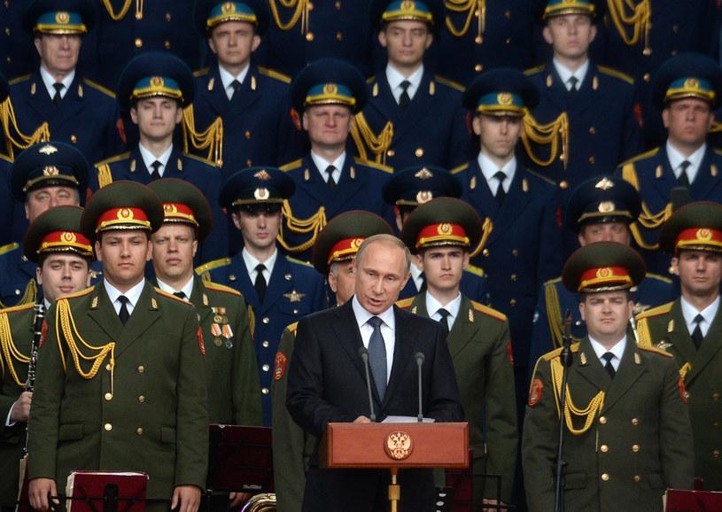 Władimir Putin w czasie forum militarnego pod Moskwą /AFP