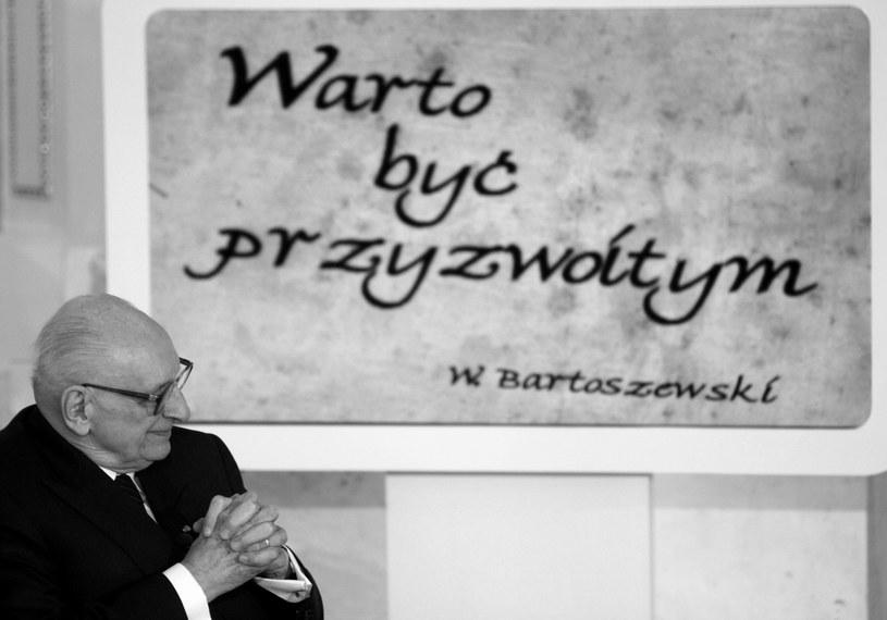 Władysław Bartoszewski /Bartłomiej Zborowski /PAP