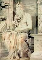 Włoska sztuka, Michał Anioł, Mojżesz, kościół San Pietro in Vincoli, Rzym, 1515-16 /Encyklopedia Internautica