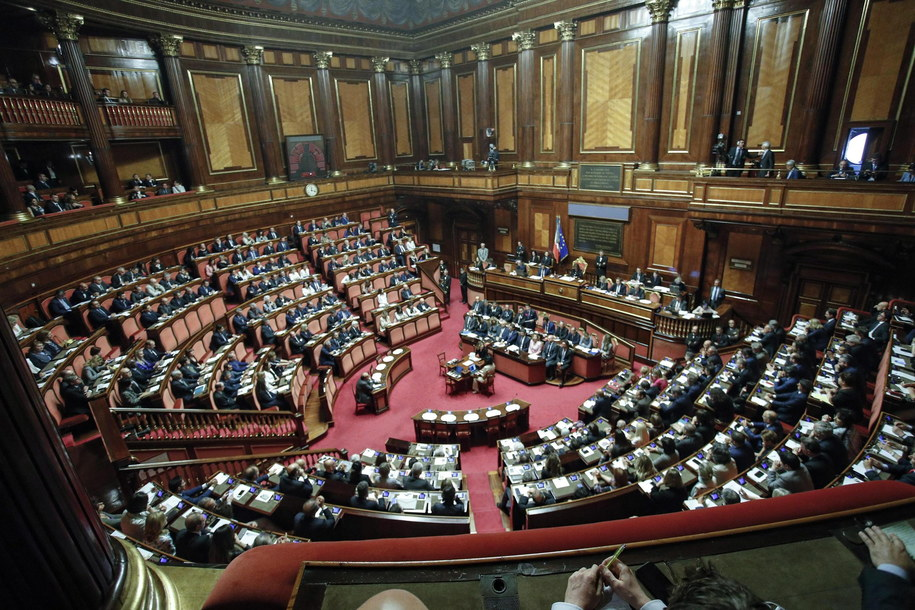 Włoski parlament /GIUSEPPE LAMI /PAP/EPA