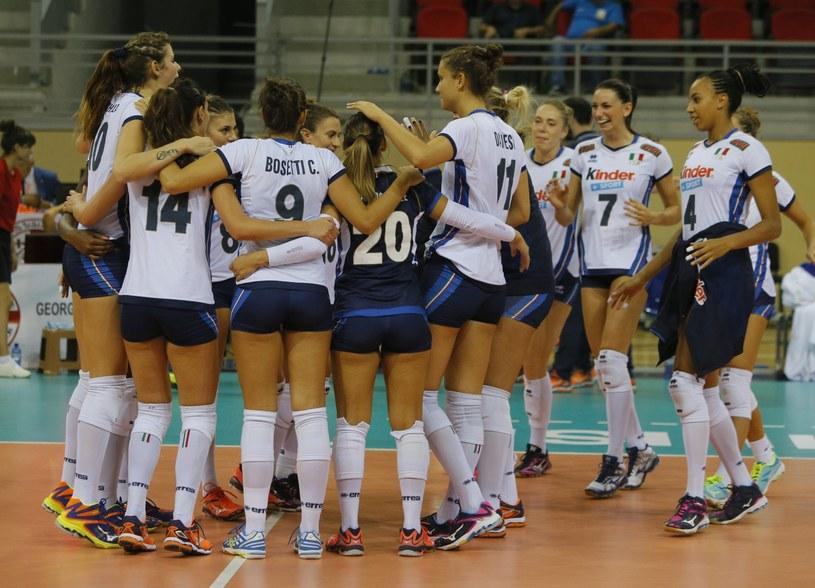 Włoszki cieszą się z awansu do ćwierćfinału mistrzostw Europy /PAP/EPA