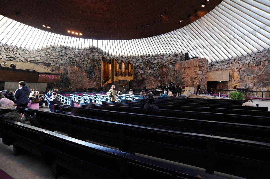 Wnętrze kościoła Temppeliaukio /PAP/Przemysław Molik /PAP