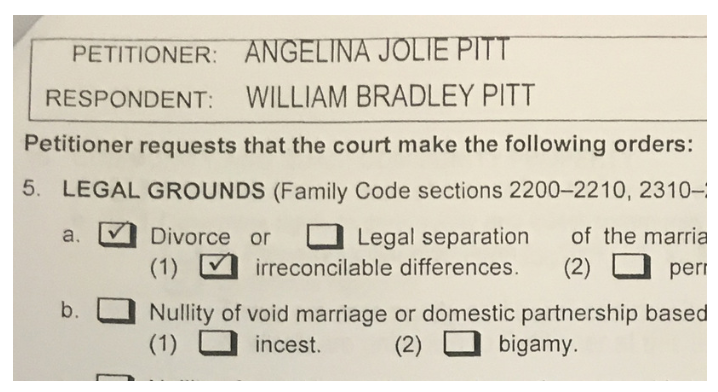 Wniosek Angeliny Jolie o rozwód z Bradem Pittem /Agencja FORUM