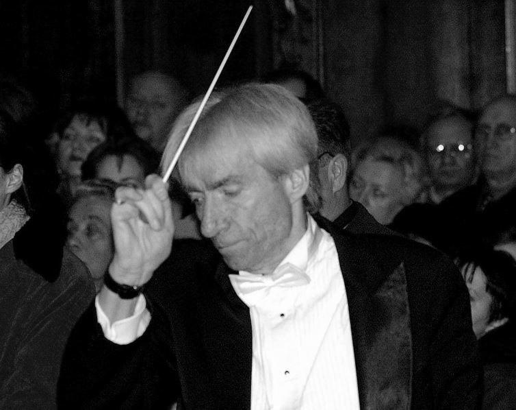 """Wojciech Krolopp, dyrygent chóru """"Polskie Slowiki"""" /Przemyslaw Andrzejewski/REPORTER /East News"""