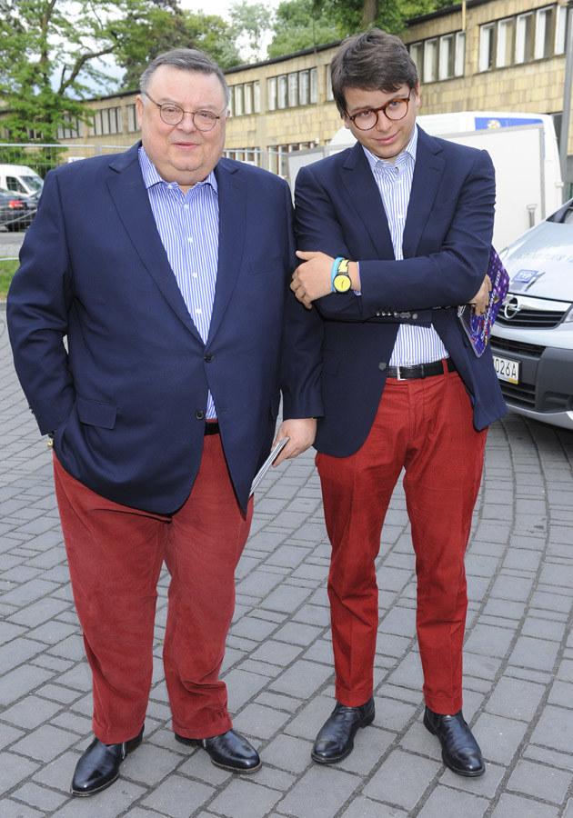 Wojciech Mann z synem Marcinem /Jarosław Antoniak /MWMedia