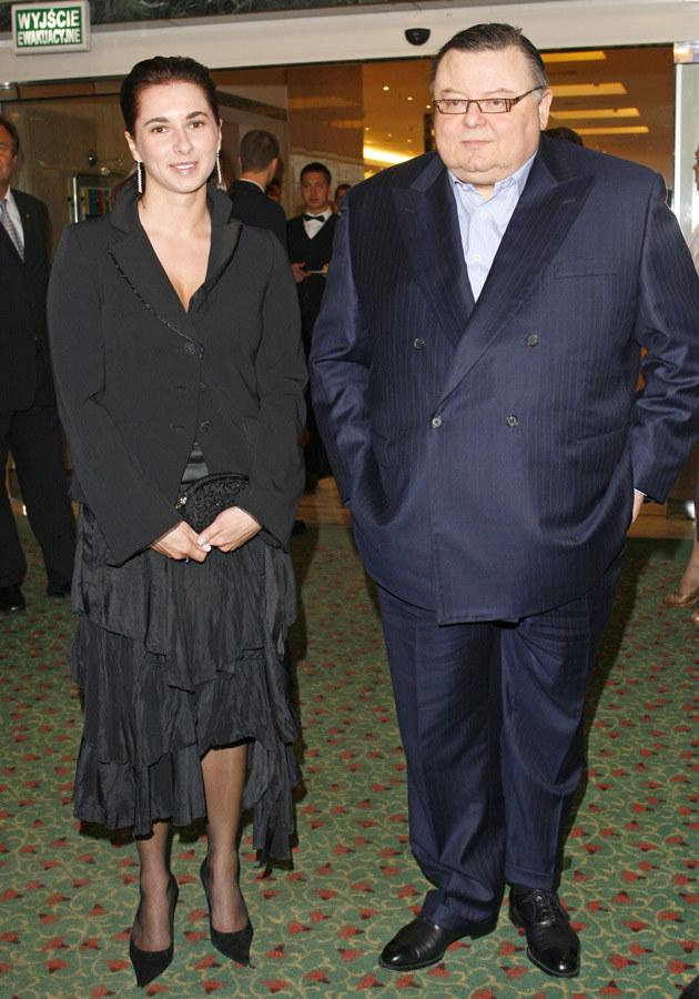 Wojciech Mann z żoną Ewą /Krzysztof Jarosz /Agencja FORUM