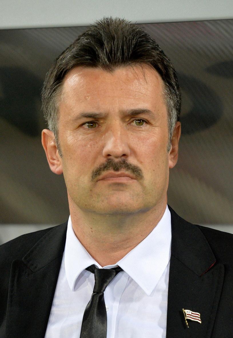 Wojciech Stawowy podczas meczu Cracovii z Górnikiem /Jacek Bednarczyk /PAP