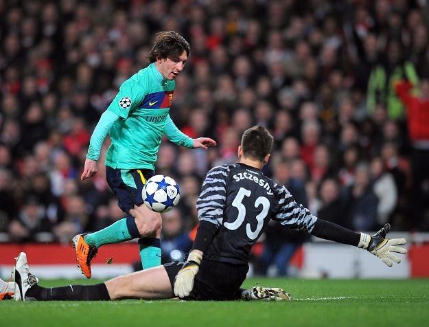 Wojciech Szczęsny dobrze spisywał się w meczu z Barceloną /AFP