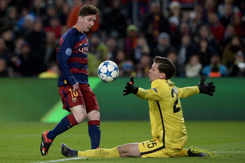 Wojciech Szczęsny (z prawej) i Leo Messi /AFP