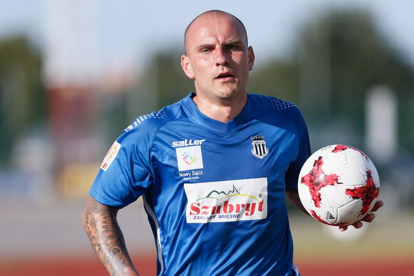 Wojciech Trochim strzelił pierwszego gola dla Sandecji w sobotnim sparingu /Wojciech Figurski /Newspix