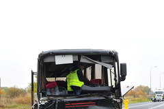 Wolin: Tragiczne skutki zderzenia autobusu z ciężarówką