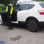 Wpadka kuriera, odzyskane kradzione auto