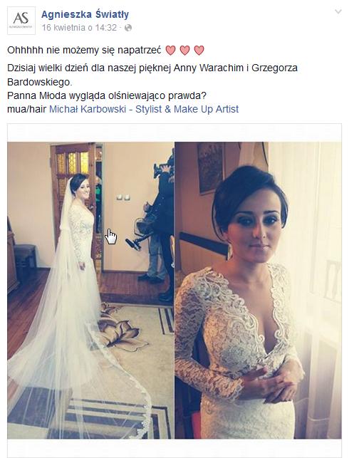 Wpis Agnieszki Światły /Facebook