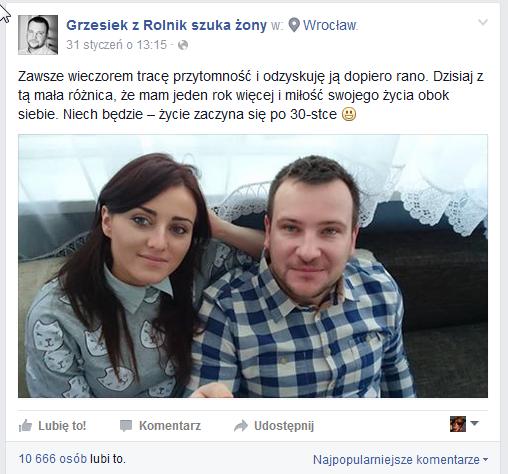 Wpis Grzegorza na Facebooku /Facebook