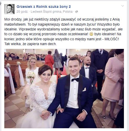 Wpis Grzgorza na Facebooku /Facebook