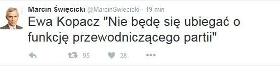 Wpis Marcina  Święcickiego /