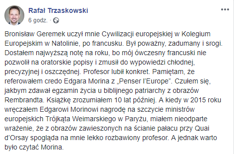 Wpis Rafała Trzaskowskiego /Facebook