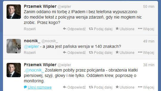Wpis Wiplera na Twitterze. /Twitter