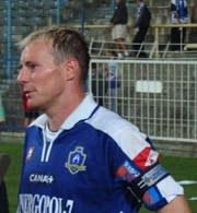 Wracający na ligowe boiska Piotr Reiss nie strzelił tym razem bramki. /www.kolejorz.pyry.net