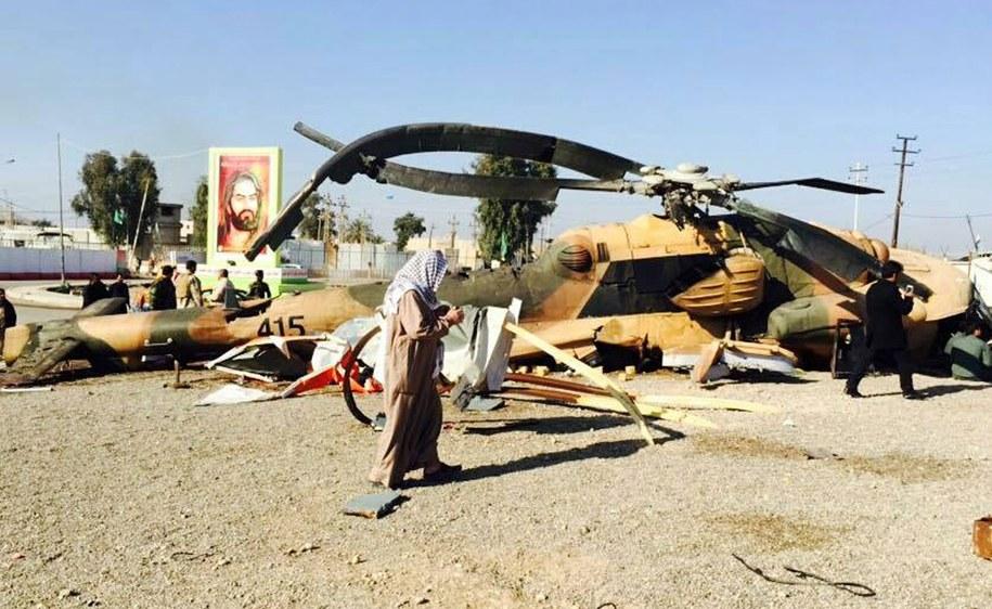 Wrak irackiego śmigłowca zestrzelonego w Samarze (zdj. ilustracyjne) //STR /PAP/EPA