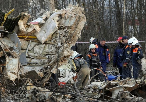 Wrak Tu-154 w Smoleńsku /AFP