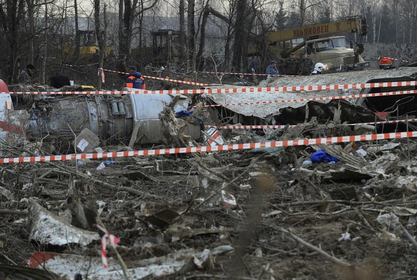 Wrak TU-154M /AFP